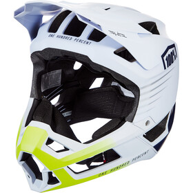 100% Trajecta Casque, white/navy
